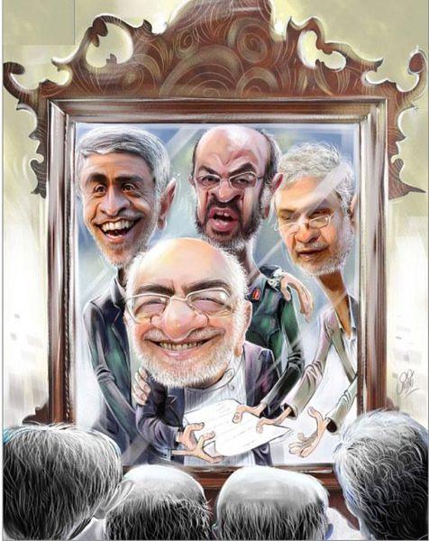 کاریکاتور/ 4 وزیر نامه به دست!