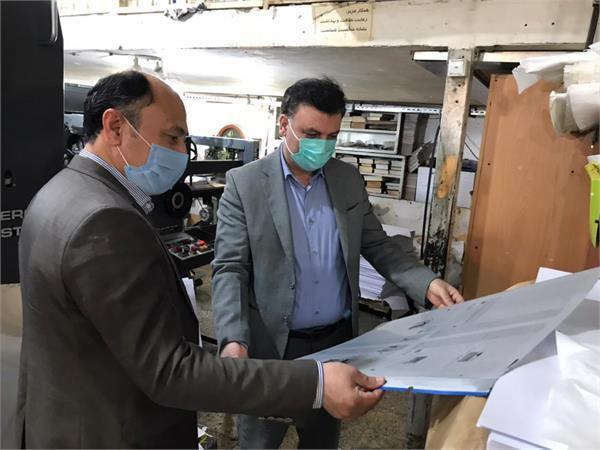 بازدید رئیس اداره رسانه فرهنگ و ارشاد گلستان از 2 چاپخانه در گرگان
