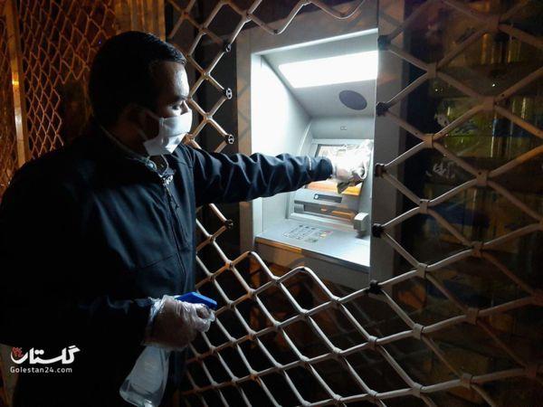 ضدعفونی اماکن عمومی شهرستان مینودشت در شرق گلستان+تصاویر