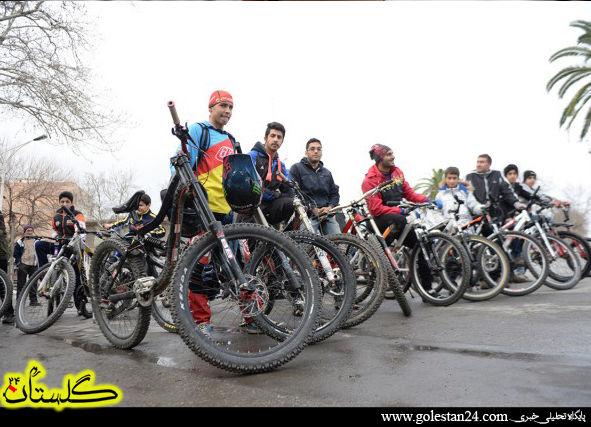 تصاویر زیبا از همایش دوچرخه سواری گرگان