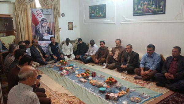 تصاویر/ دیدار مدیرکل بنیاد شهید گلستان با خانواده شهیده منا نازقلیچی