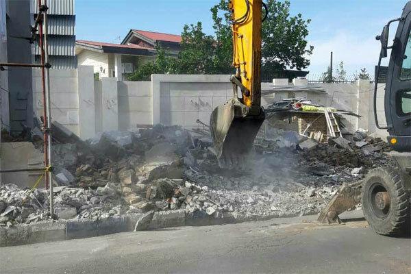 تخریب بخش هایی از رستوران سید مسعود گرگان با مجوز دادستانی