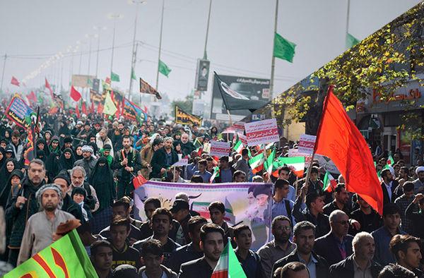 راهپیمایی۱۳ آبان ، ادامه پیاده روی اربعین است