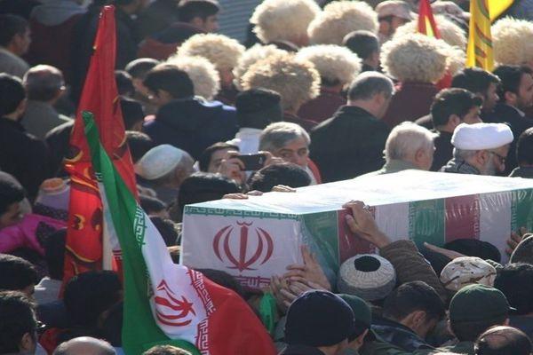 تصاویر/ تشییع و تدفین شهید گمنام در مدرسه علمیه منتظریه گنبد