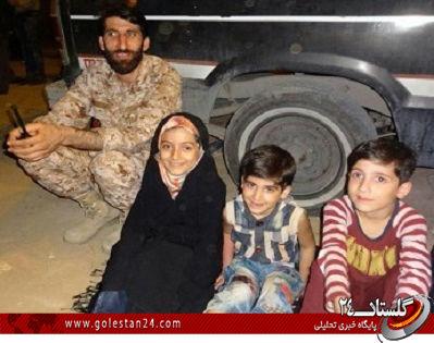 عکس/ یادگاری فرزندان شهید مدافع حرم مازندرانی