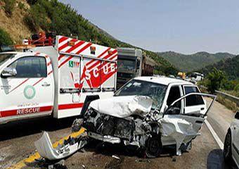 تصادف پارک ملی گلستان باعث مصدومیت 5 نفر و مرگ نوزاد 19 ماهه شد + تصاویر