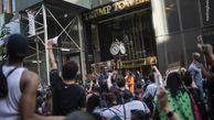 فیلم/ شهردار نیویورک در جمع معترضان به ترامپ