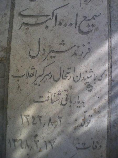 عکس/مردی که از فراغ امام درگذشت
