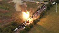 فیلم/ انفجار ترانسفورماتورهای برق در لسآنجلس