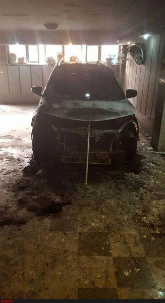 آتش زدن خودروی یک نامزد مجلس +عکس