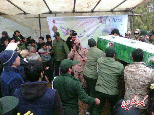 تصاویر/آیین خاکسپاری پیکر شهید امنیت عباسعلی اصفهانکلاتی در گرگان