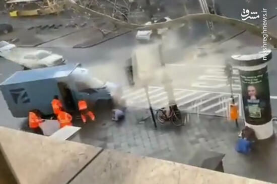 فیلم/ لحظه حمله به خودرو حامل پول