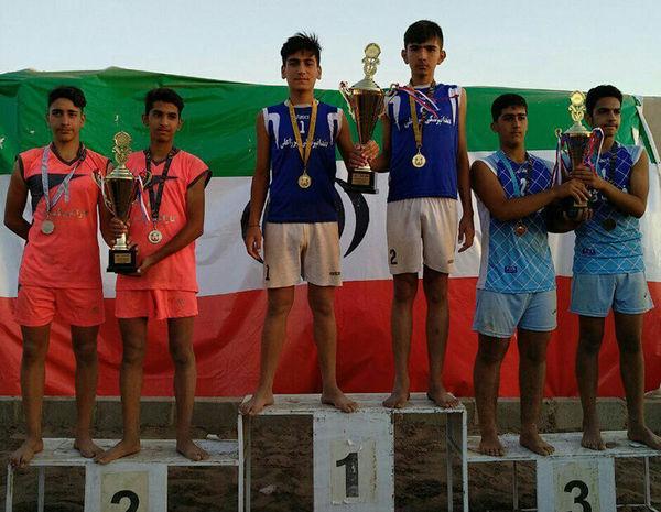 نونهالان گلستان قهرمان والیبال ساحلی ایران شدند