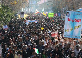 تصاویر/ راهپیمایی حماسی 22 بهمن در فاضل آباد
