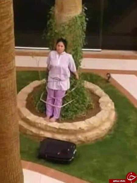 تنبیه عجیب خدمتکار توسط زوج ثروتمند عربستانی! + تصاویر
