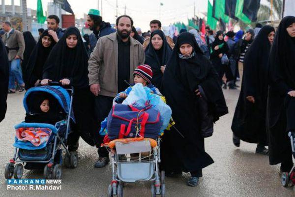 تصاویر/ کودکان در پیاده روی اربعین حسینی