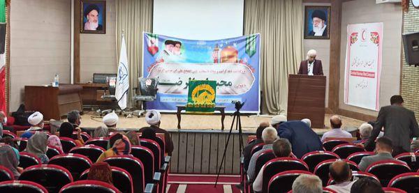 مراسم جشن میلاد امام رضا علیه السلام با ورود خادمین و پرچم حرم امام رضا + تصاویر