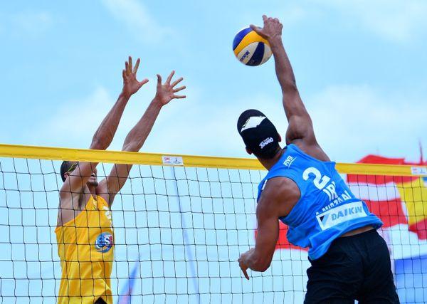 برگزاری مسابقات بین المللی والیبال ساحلی در بندرترکمن