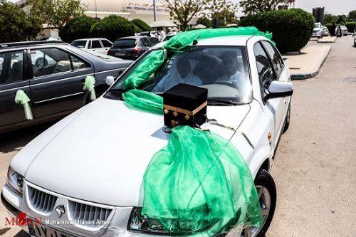 تزئین ماشین حجاج در ایران! + عکس