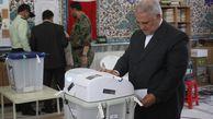 عکس/ حضور استاندار گلستان پای صندوق رای