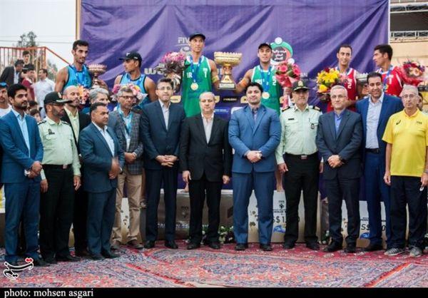 پایان مسابقات تور جهانی والیبال ساحلی بندرترکمن با قهرمانی ورزشکاران ایران+تصاویر