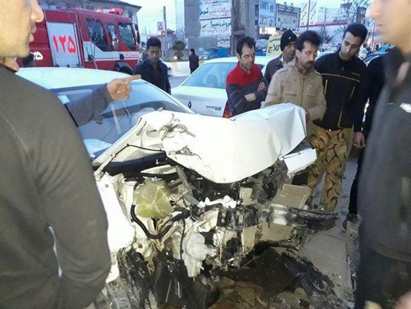 تصادف زنجیره ای در کردکوی/حادثه صدمات جانی به همراه نداشت+تصاویر