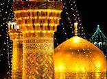 بوسه سردار سلیمانی بر پرچم امام رضا (ع)