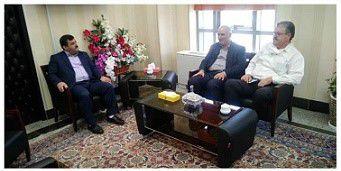 دیدار مدیر کل هواشناسی گلستان با مدیر کل امور شعب بانک ملی استان