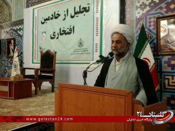 مراسم تجلیل از خادمین افتخاری بقاع متبرکه گرگان برگزار شد + تصاویر