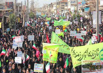 تصاویر/ راهپیمایی باشکوه 22 بهمن مردم آزادشهر