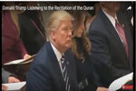 دانلود کلیپ قرائت قرآن در حضور دونالد ترامپ