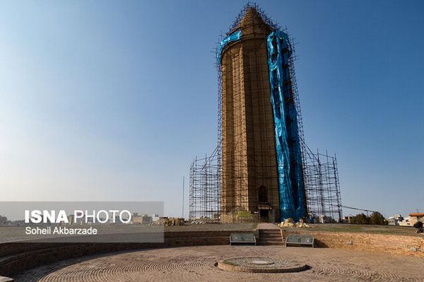 حال و روز بلندترین برج آجری جهان بهتر میشود