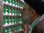 لحظاتی از وداع حجتالاسلام رئیسی با مضجع نورانی امام رضا(ع) +فیلم