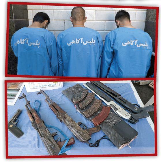 دستگیری جنایتکاران فراری در باغ اجارهای