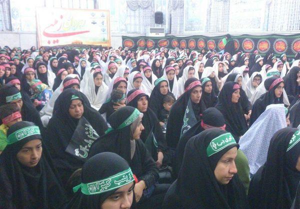 تجمع بزرگ رهروان زینبی در استان گلستان برگزار شد
