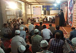 جشن معنوی رمضان در مسجد جامع حنفی خواجه نفس گلستان