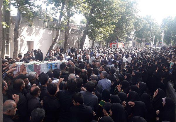 تشییع پیکر شهید مدافع حرم حسینی نوده