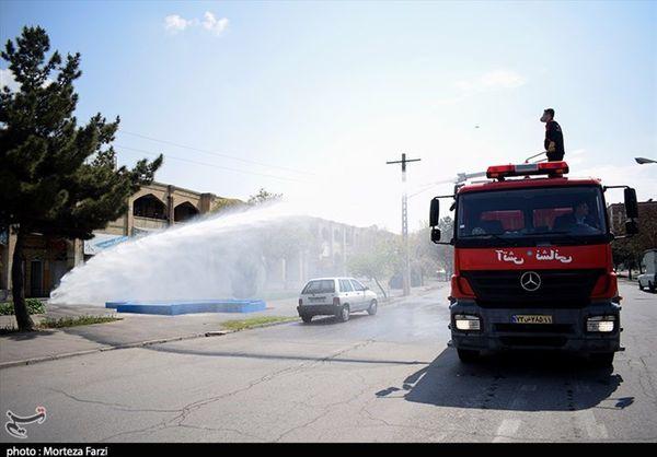 اماکن عمومی و معابر شهری گرگان برای مقابله با کرونا ضدعفونی میشود