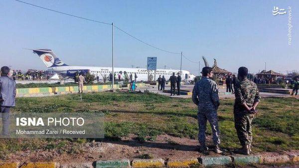 فیلم/ نمایی دیگر از هواپیمای حادثهدیده در ماهشهر