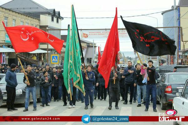 راهپیمایی اربعین شیعیان شهر دربند به روایت تصویر