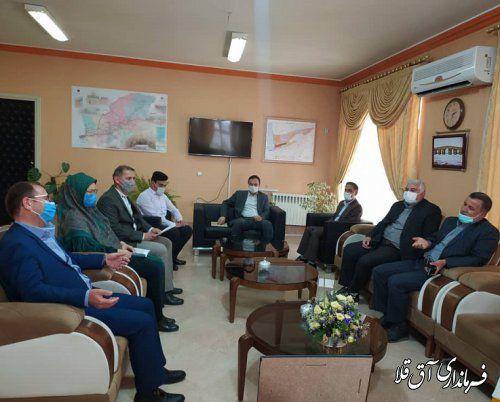 نشست مشترک رئیس هیات اجرایی با هیات بازرسی انتخابات شهرستان آق قلا برگزار شد