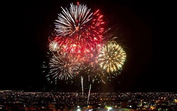 فیلم/نور افشانی آسمان شهر فاضل آباد در شب میلاد امام زمان عج